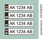 european license number plate | Shutterstock .eps vector #267268391