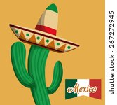 mexico   mexican culture card... | Shutterstock .eps vector #267272945