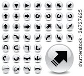 arrow icons   Shutterstock .eps vector #26727625