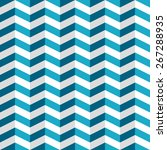 seamless pattern with blue and... | Shutterstock .eps vector #267288935