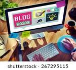 blog weblog media online... | Shutterstock . vector #267295115