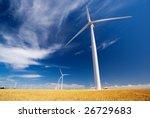 A wind farm in South Australia - stock photo