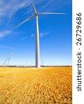 A wind farm in rural South Australia - stock photo