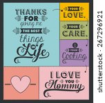 mothers day design over black... | Shutterstock .eps vector #267296921