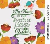 mothers day design over white... | Shutterstock .eps vector #267297149