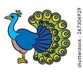 Illustration Of Peacock Bird O...