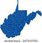west virginia map | Shutterstock .eps vector #267315701