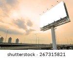 large blank billboard on road... | Shutterstock . vector #267315821