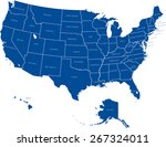 usa map | Shutterstock .eps vector #267324011