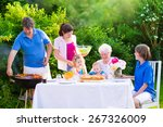 grill barbecue backyard party.... | Shutterstock . vector #267326009