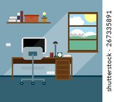 flat office vector illustration   Shutterstock .eps vector #267335891