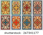 collection retro cards. ethnic... | Shutterstock .eps vector #267341177