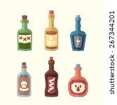 set of bottles. vector...   Shutterstock .eps vector #267344201