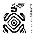 black monster in native style ... | Shutterstock .eps vector #267346397