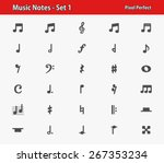 music notes icons. professional ... | Shutterstock .eps vector #267353234