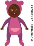 african baby girl little cute... | Shutterstock .eps vector #267358265