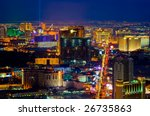 Stock photo las vegas from above at night 26735863