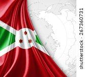 burundi flag and world map... | Shutterstock . vector #267360731