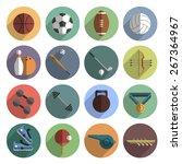 outdoor team sport symbols and... | Shutterstock .eps vector #267364967