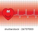 vector happy heart and heartbeat   Shutterstock .eps vector #26737003