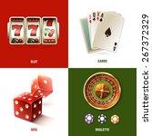 casino design concept set with... | Shutterstock .eps vector #267372329
