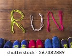 Five Pairs Of Running Shoes An...