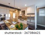 modern  bright  clean  kitchen... | Shutterstock . vector #267386621