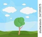 vector field landscape... | Shutterstock .eps vector #267390575