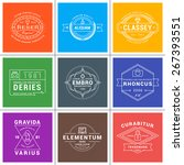 set of hipster vintage labels ... | Shutterstock .eps vector #267393551