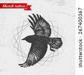 sketch of a raven. can be used... | Shutterstock .eps vector #267400367