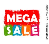 mega sale drawn label | Shutterstock .eps vector #267413009