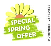 special spring sale banner  ... | Shutterstock . vector #267414689