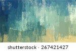 blue chalk brush strokes... | Shutterstock . vector #267421427