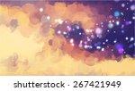 sparkle blue brush strokes...   Shutterstock .eps vector #267421949