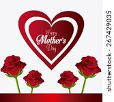 happy mothers day card design ... | Shutterstock .eps vector #267429035