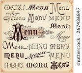 menu vintage retro style... | Shutterstock .eps vector #267436847