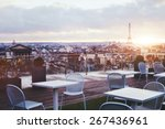 Sunny Terrace Of Restaurant In...
