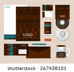 corporate identity template... | Shutterstock .eps vector #267438101