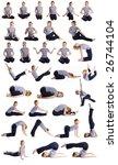 female doing yogatic exericise. | Shutterstock . vector #26744104
