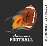 sports design over gray... | Shutterstock .eps vector #267451325