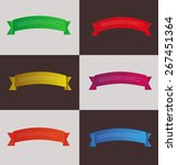 set of colorful ribbons banners ... | Shutterstock .eps vector #267451364