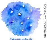 vector abstract watercolor... | Shutterstock .eps vector #267451664