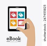 ebook design over white... | Shutterstock .eps vector #267455825