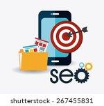 seo design over white... | Shutterstock .eps vector #267455831