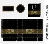 box design  die stamping.... | Shutterstock .eps vector #267460409