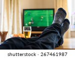 television  tv watching ... | Shutterstock . vector #267461987