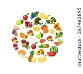 vector isolated collection of... | Shutterstock .eps vector #267463895