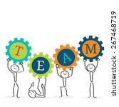 teamwork concept illustration.... | Shutterstock .eps vector #267468719