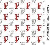 swiss franc seamless pattern | Shutterstock .eps vector #267468959