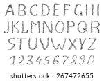 hand drawn alphabet. funny... | Shutterstock .eps vector #267472655